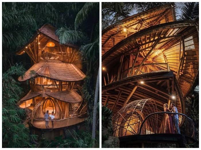 Необычная архитектура вилл отеля Aura House на Бали (Индонезия). | Фото: forfun.com/ boutique-homes.com.