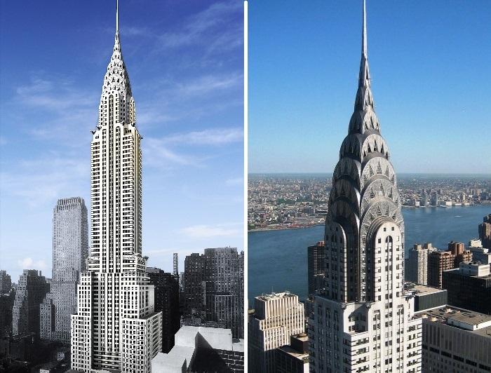 Всего за полтора часа Chrysler Building стал самым высоким зданием в мире (США, Нью-Йорк). | Фото: wikiwand.com.