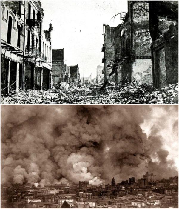 Землетрясение 1906 г. и пожар после него оставили в городе практически одни руины (хроника, Сан-Франциско). | Фото: regnum.ru.