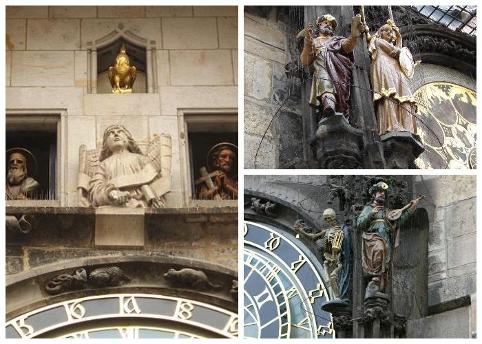 В 1600-х годах в уникальных астрологических часах установили движущиеся фигурки (Prague Orloj, Чехия).