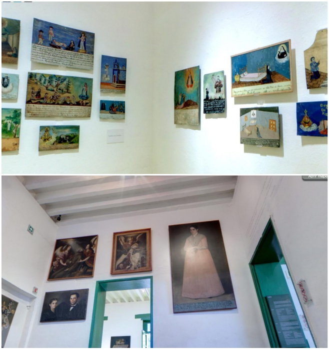 Картинная галерея на стенах дома-музея состоит из работ самой Фриды Кало и ее именитого мужа – Диего Ривера («Casa Azul», Мехико). | Фото: ulli-u.livejournal.com.