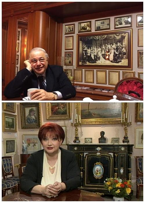 Евгений Петросян и Елена Степаненко в одной из своих квартир, которую называют музеем Петросяна.