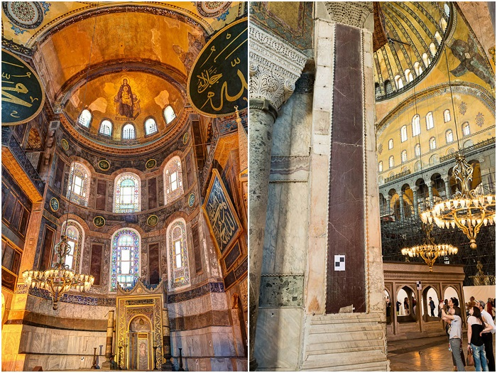 Христианские святыни, сохранившиеся внутри Софийского собора (Стамбул). | Фото: philologist.livejournal.com.