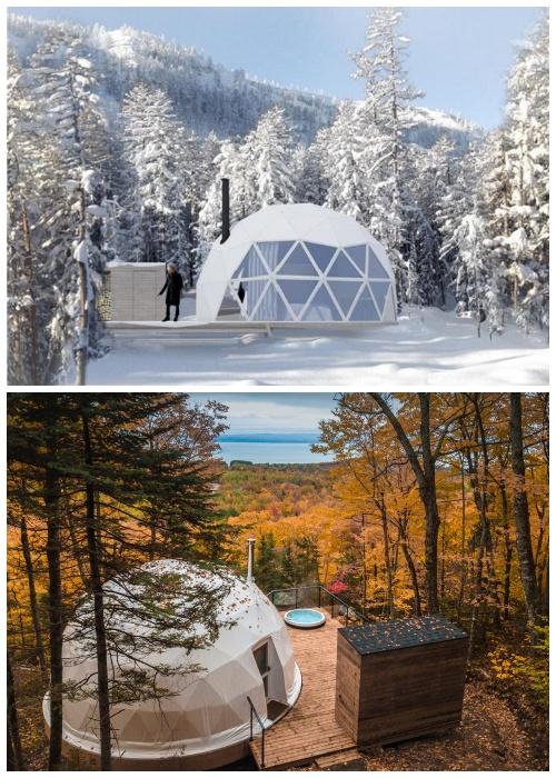 Купола-домики можно устанавливать где угодно, потому что они могут существовать в автономном режиме и в любой климатической зоне.