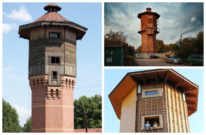 Старинная водонапорная башня, которую выкупил Александр Лунев (Томск, Россия).