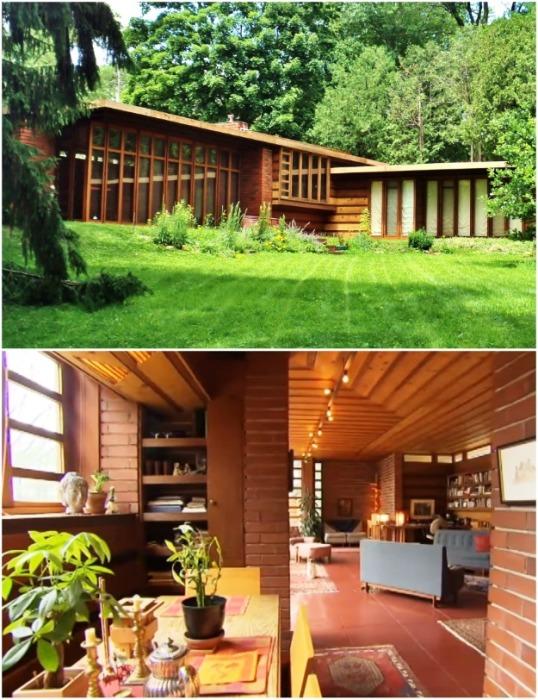 The Herbert Jacobs House считается первым жилым домом построенным Фрэнком Райдом в новом стиле. | Фото: faqindecor.com.