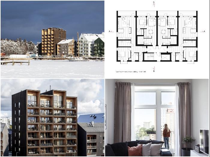 Власти города планируют расширят возможности жилищного строительства, используя древесину (ЖК «Kajstaden», Швеция). | Фото: allusanewshub.com/ © Nikolai Jakobsen.