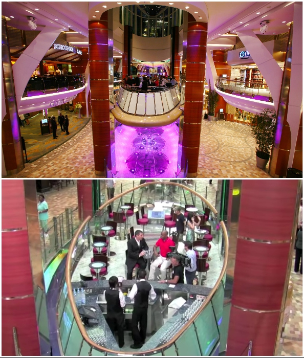 Единственный в мире лифт-бар на круизном лайнере Oasis of the Sea, в котором можно пропустить парочку бокалов или рюмочек горячительного.