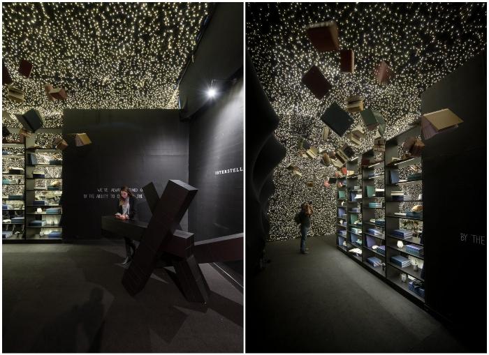Начиная с входа в ресторанный зал, посетителей встречают чудеса, имитирующие другое измерение («Interstellar», Мехико). | Фото: gospodari.com/ ©Jaime Navarro.