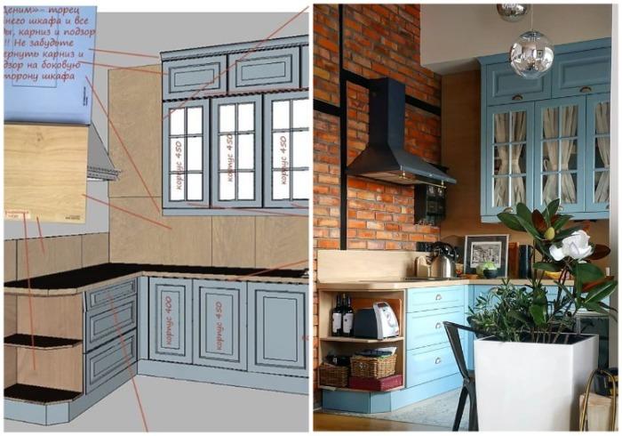 Процесс планирования и расчета каждой детали занял довольно много времени. | Фото: instagram.com/ olgagaschenko.