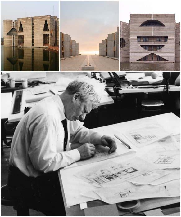 Луис Кан — гениальный американский архитектор прошлого века. | Фото: pinterest.com.