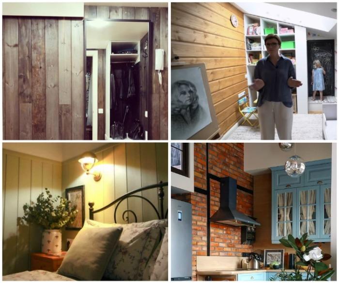 В оформлении своей квартиры Ольга использовала лишь природные материалы. | Фото: youtube.com/ INMYROOM TV.