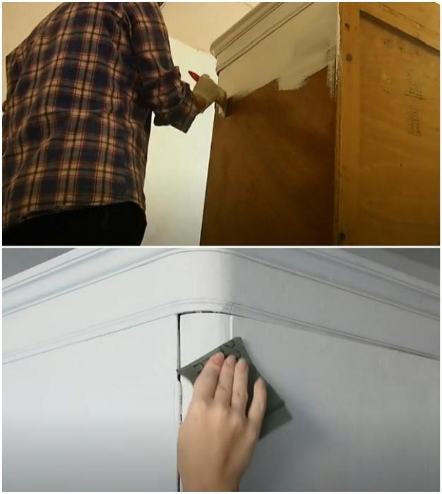 Поверхность нужно загрунтовать, после высыхания выровнять наждачной бумагой.