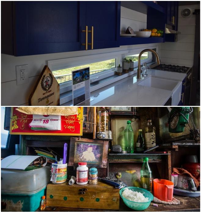 Это на выставках все прекрасно, а когда в фургоне негде развернуться и живет несколько человек кухня выглядит приблизительно так. | Фото: supercoolpics.com/ atlantatravelblog.com.