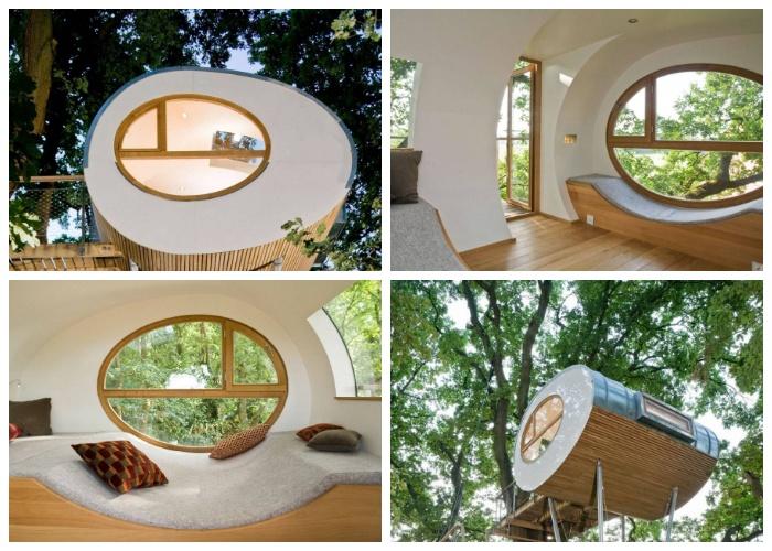 Удивительный дом на дереве сделан из природных материалов («Луиза», Германия).