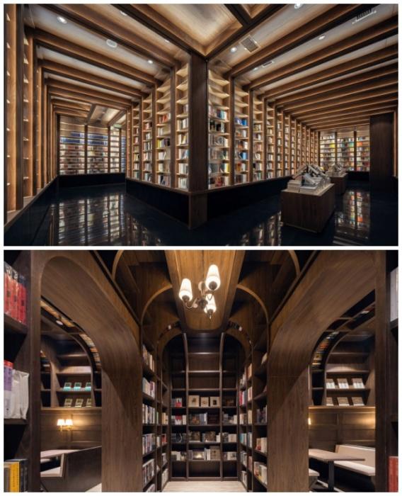 Книжный магазин больше похож на катакомбы с бесчисленными коридорами и тоннелями (Ханчжоу, Китай). | Фото: admagazine.ru.