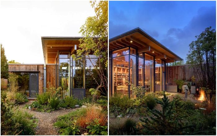 Оазис дикой природы в городском районе (City Cabin, Сиэтл).