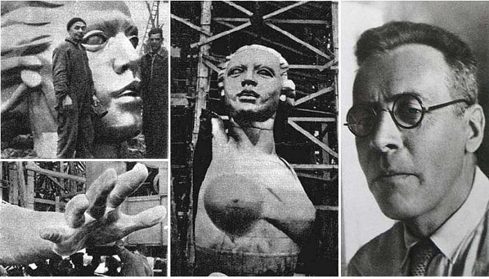 Скульптуру решили делать из нержавеющей хромоникелевой стали, состав которой создал профессор П.Н. Львов (справа).