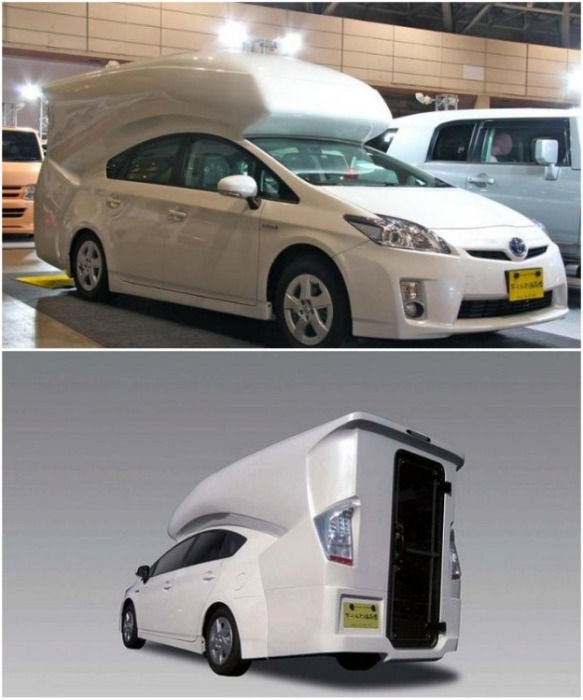 Надстройку Relax Cabin можно купить отдельно или приобрести готовый автомобиль Toyota Prius с такой комплектацией. / ribalych.ru.