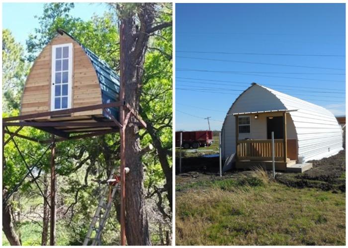 Оригинальный арочный домик можно установить где вам захочется.