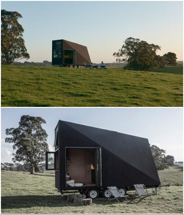 Поскольку подобные домики устанавливают где угодно, то и организовать зону отдыха можно на лоне природы («Base Cabin», Мельбурн). | Фото: basecabin.com.
