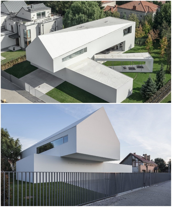 Quadrant House создан так, чтобы его стеклянная терраса двигалась за небесным Светилом в течение дня (проект KWK Promes, Польша). | Фото: ignant.com/ archdaily.com.