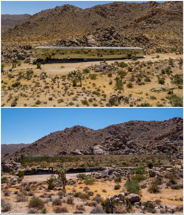 «Дом-невидимка», который полностью сливается с экзотическим ландшафтом (Joshua Tree, Калифорния). | Фото: referredbyruby.com.