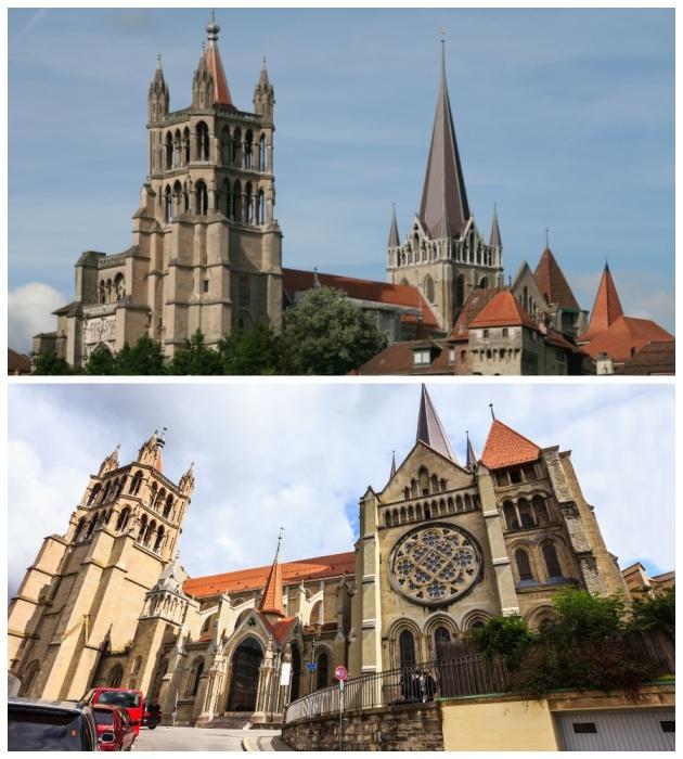 Кафедральный собор Нотр-Дам является визитной карточкой Лозанны (Швейцария). | Фото: ch.igotoworld.com.