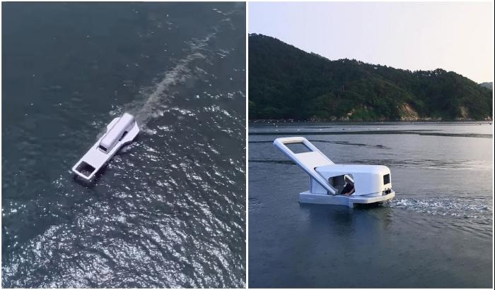 Формы яхты в точности повторяют внешний вид замка застежки-молнии (Zip-Fastener Ship). © Yasuhiro Suzuki.
