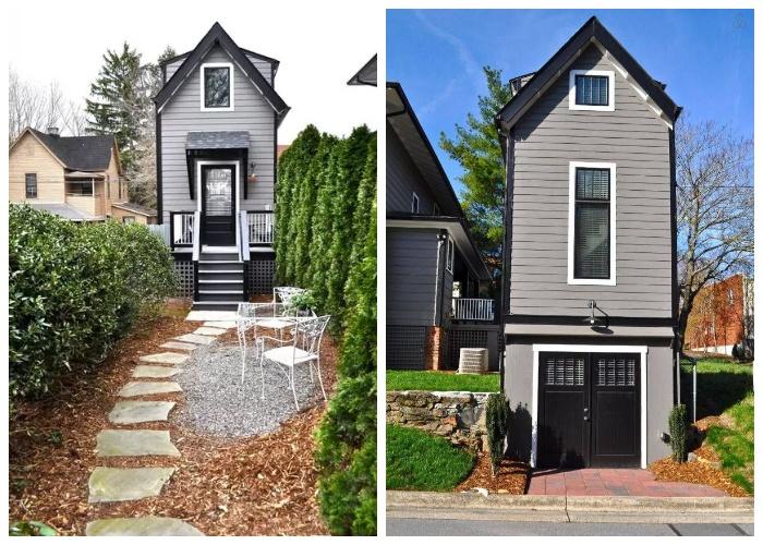 Новый дом компании DIY Cosy Home больше похож на голубятню (Эшвилл, штат Северная Каролина).