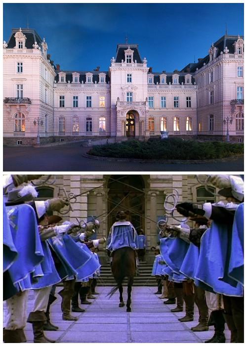 Дворец Потоцких служил съемочной площадкой в качестве дома господина де Тревиля («Д'Артаньян и три мушкетера», Львовская область).