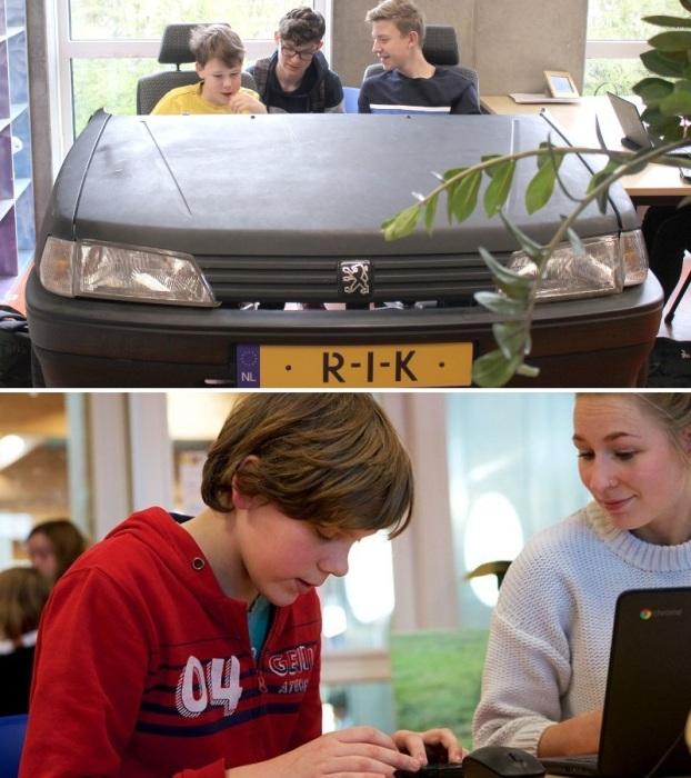Дети разных возрастных категорий обучаются в одном классе (Agora College, Нидерланды). | Фото: medium.com.