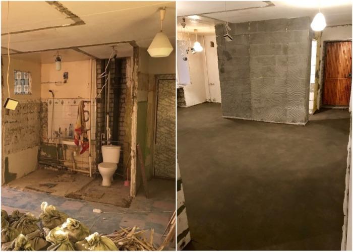 Благодаря кардинальной перепланировке и новому зонированию ванная комната стала 1 кв. метр больше. | Фото: news.myseldon.com.
