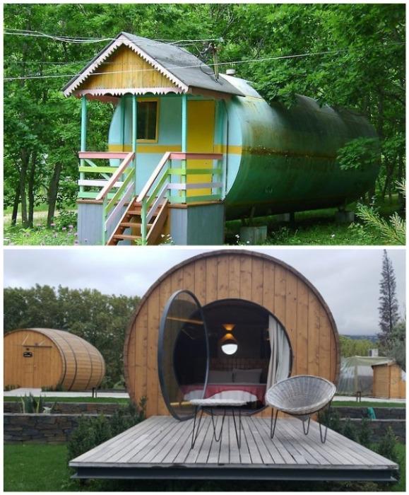 В качестве оригинальных домов используют как бочки, так и цистерны большого объема. | Фото: novamett.ru/ Buro 24/7.