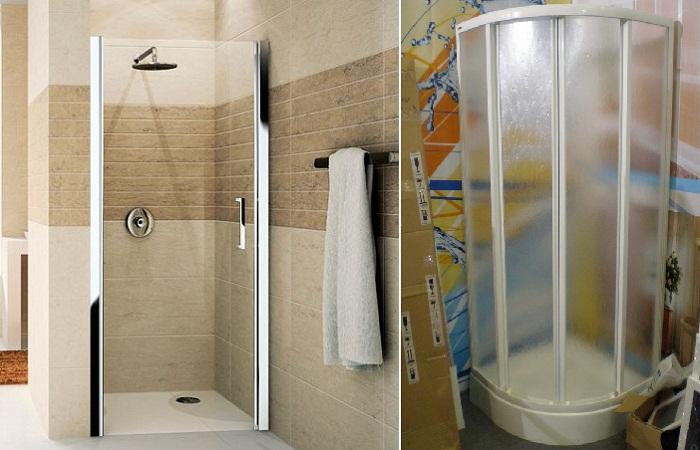 Используйте двери в душевой кабине из триплекса или полимерных материалов.