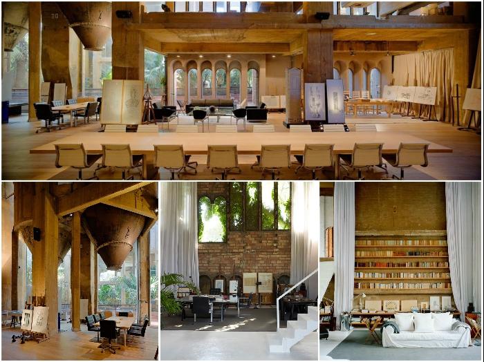 Большую часть фабричных площадей занимает архитектурное бюро Бофилла «Taller de Arquitectura» («La Fabrica», Мадрид).   Фото: lifter.com.ua/ magazindomov.ru.