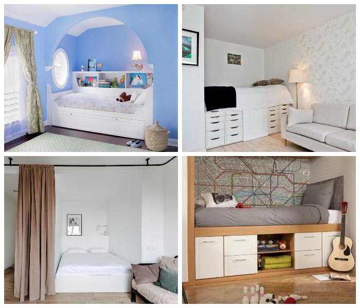 Варианты оформления спальной зоны в современном интерьере.