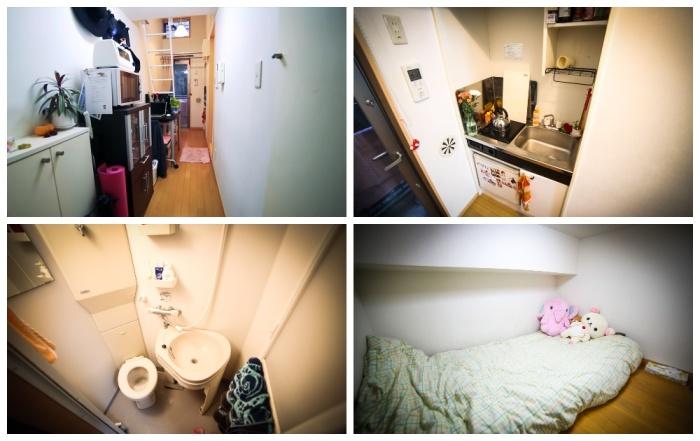 На 8 кв. метрах имеющегося пространства девушке удалось создать полноценное жилье. | Фото: youtube.com.