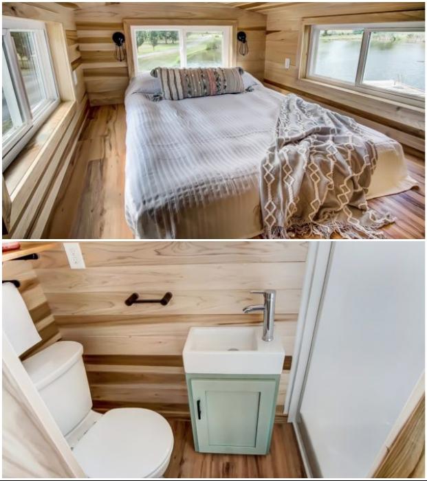 Мини-апартаменты Clover имеют собственную ванную комнату и спальню (Испания). © Modern Tiny Living.