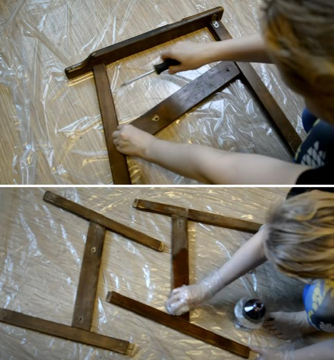 Реставрация неповрежденных элементов деревянного каркаса. | Фото: youtube.com/ © Светлана Анисимова.
