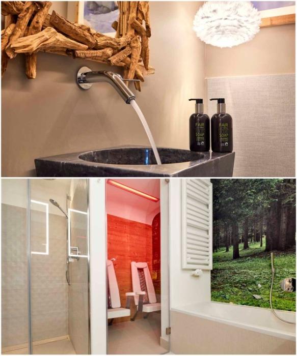 Наличие инфракрасной кабины и контрастный душ добавят остроты ощущений (курорт La Villa, Mi Chalet). | Фото: leotrippi.com/ © Luca Visciani.