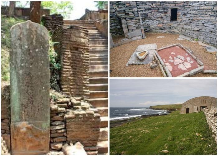 Midhow представляет собой гробницу коридорного типа, выложенную камнями без какого-либо скрепляющего раствора (о. Раузи,  Шотландия). | Фото: dostoyanieplaneti.ru.
