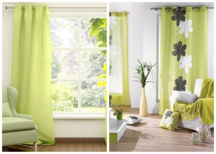 Пример модных штор для почитателей ECO style.