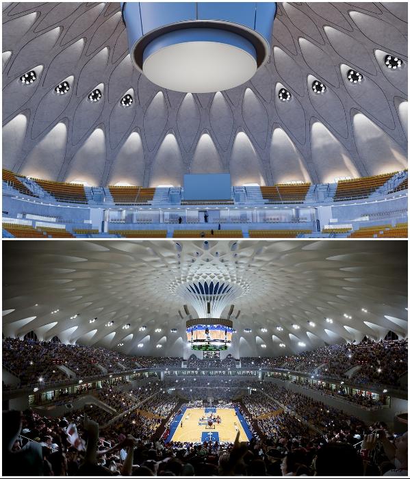 В парке создадут спортивный зал на 10 тыс. посадочных мест (визуализация «Quzhou Sports Park»). | Фото: newatlas.com/ © MAD Architects.