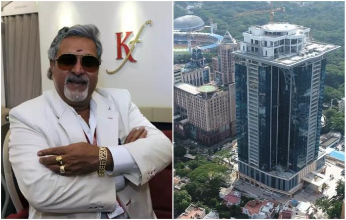 Vijay Vittal Mallya построил элитный небоскреб и роскошный особняк на его крыше для себя (Kingfisher Tower-Residences, Бангалор). Фото: economictimes.indiatimes.com/ youtube.com, © The Times of India.