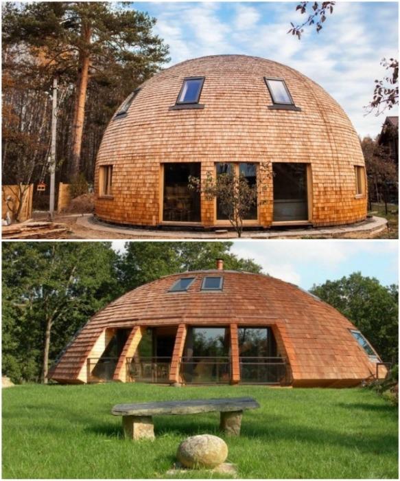 Сейчас строить круглые дома не только модно и красиво, но и целесообразно. convolute-wood.livejournal.com.