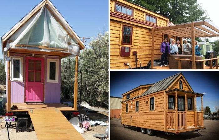 Среди пенсионеров Америки становятся популярными крошечные дома на колесах. | Фото: tumbleweedhouses.com.