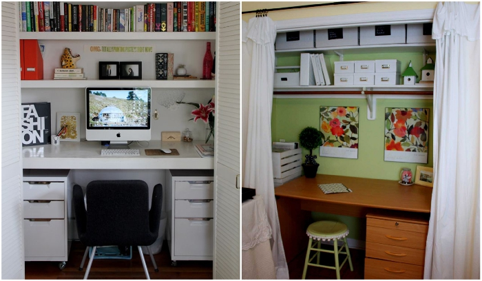 Если нет возможности установить дверь, можно повесить красивые шторы. | Фото: effectivehouse.com/ pinterest.se.