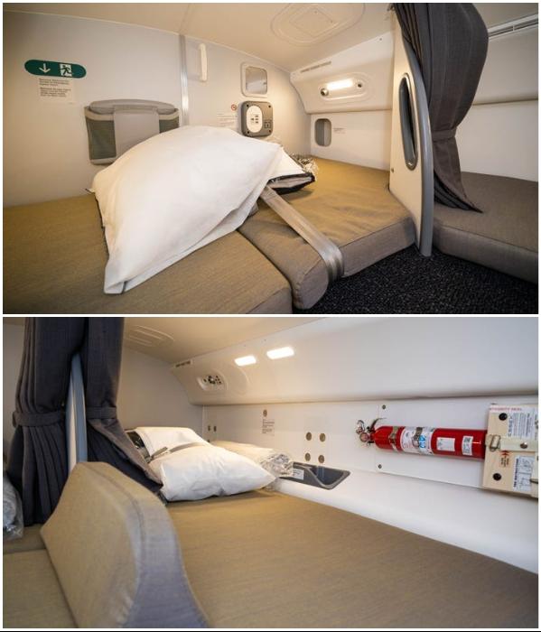 Тайные комнаты для отдыха стюардесс рейса Qantas из Нью-Йорка и Сидней. | Фото: businessinsider.com.