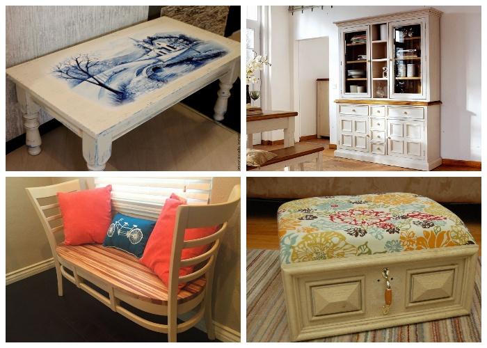 Немного умения и огромное желание помогут превратить старую мебель в шедевр.